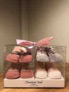 Baby socks (for baby girl, pack of 4)