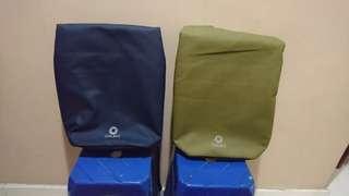 Ozuko backpack - Navy + Brown