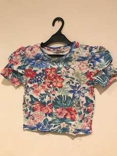 ZARA tropical t shirt