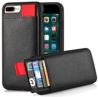 Black Cardholder IPhone XS Casing