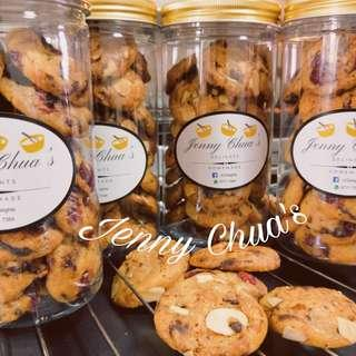 Best seller Chocolate Chip Cookies w/ Cranberries/Almonds