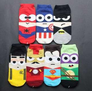 🚚 INSTOCK DC marvel superhero / superheroes socks cute unisex socks #1212