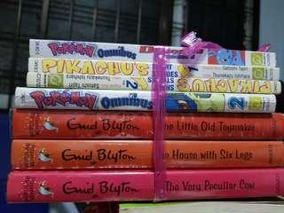Enid Blyton and Pikachu comics