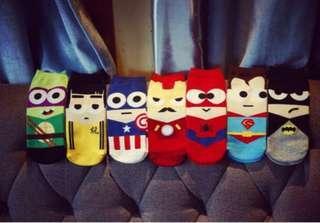 🚚 INSTOCK DC marvel minimalist streetwear superhero / superheroes socks cute unisex socks #1212