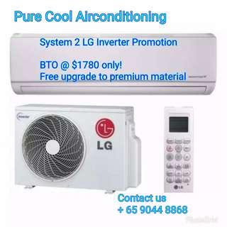Special Special!! LG aircon promotion!! System 2 Aircon Installation