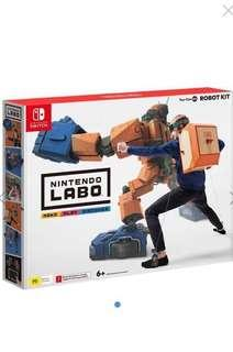 全新日版 Switch Labo Toy-Con 02 Robot Kit Set
