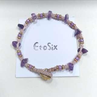 手作飾品--黃銅×紫水晶