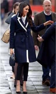 美國專櫃正品Banana Republic 海軍藍*白 袖扣 鐵灰皇室 皇家徽章 鈕扣 西裝外套/梅根 凱特王妃類似款
