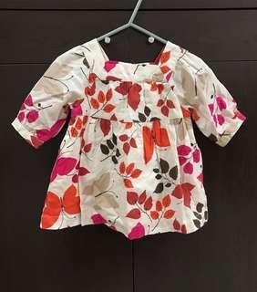 Baby Gap Kids Girl Butterfly Leave Tunic Dress