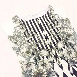 Black & White Print Dress