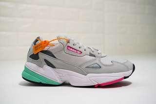 Adidas Originals Falcon W 'Light Grey / Pink / Green'