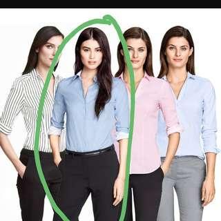 Kemeja wanita kantoran HnM / H&M ORI cutting label