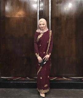 Maroon saree