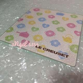 LE CREUSET Tempered Glass Chopping Board / Serving Plate / Pot Holder