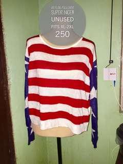 US flag knitted pullover