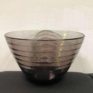 🚚 品東西家居PiiN 全新深紫色沙拉碗 玻璃碗 造形碗 置物碗 擲物碗盤