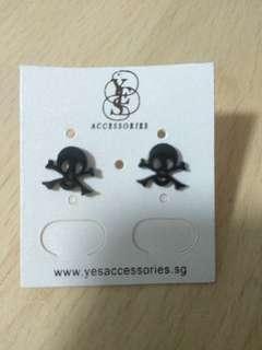 Skull black Earrings