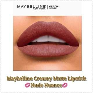 Maybelline Creamy Matte Lipstick (Nude Nuance)