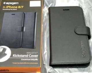 Spigen wallet s case for iPhone 7 kickstand cover black