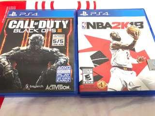 PS4 games promo ( 2k18 & COD )