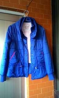 不議價👉a la sha寶藍鋪棉外套S