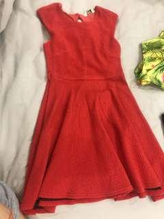 Petite Red casual dress