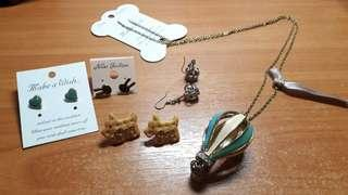 Earrings & Necklace Accessories Set
