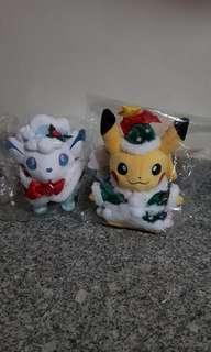 Pokemon Stuff Toy: Pikachu & Vulpix