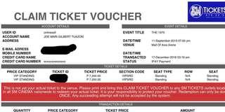 The 1975 Manila 9/11/2019 VIP Tickets