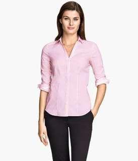 Kemeja blouse atasan wanita HNM H&M ORI cutting label