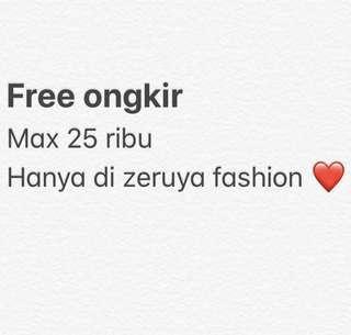 Free ongkir di zeruya fashion