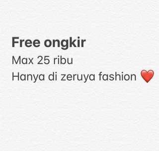 Free ongkir hanya di Zeruya Fashion
