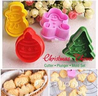 🎄 CHRISTMAS THEME CUTTER PLUNGER MOLD SET