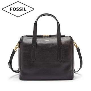Fossil women leather handbag slingbag