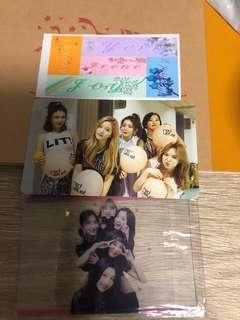 Red velvet name sticker , translucent photo card and photo card set