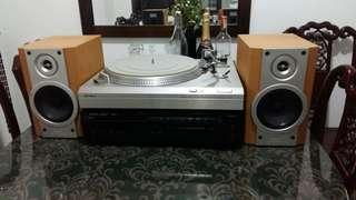 Turntable Set Up - Harman Kardon, Sony TT & Sony Speakers