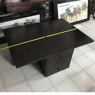 Used Wooden Square Wooden Table for Sale
