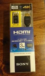 全新 正貨 Sony HDMI - MINI HDMI 線 支援 4K DLC-HEM30