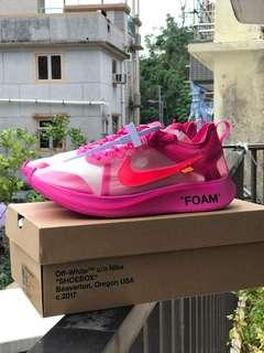The ten Nike x off white Zoomfly pink zoom fly pink Us10