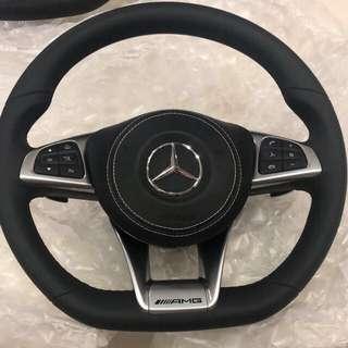 New! Original Mercedes Flat bottom Steering Wheel ( With Original Air Bag) W204,W205,W212 & W246