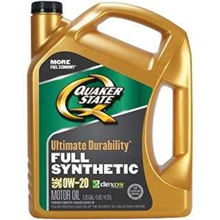 Quaker State Ultimate Durability 0W-20 Full Synthetic Motor Oil - 5 Quart