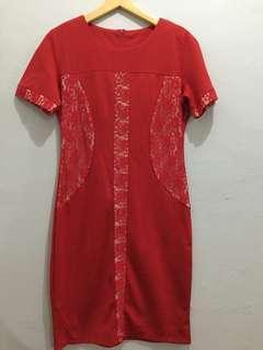 Dress merah chinese natal