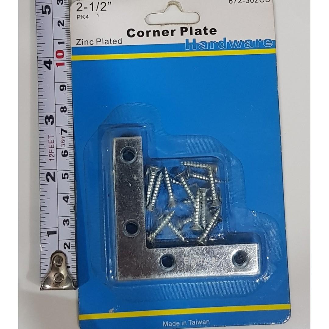 90 Degree Right Angle 5 pcs x 2 5 inches L Shape Iron Flat Plate Corner  Bracket