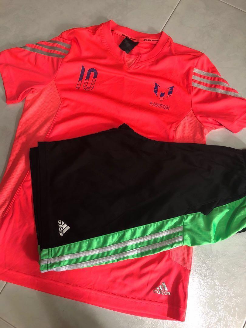 18f1c2ff2 Adidas Football Messi T-shirt   shorts set