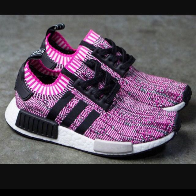 a2b2d426be18 Adidas NMD R1 Primeknit Pink Rose