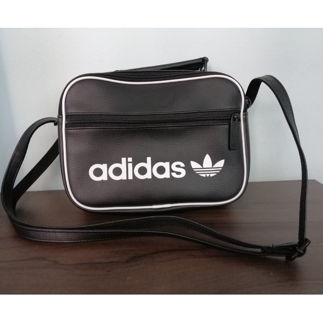 bc9163f62c22 Adidas Originals Mini Airliner Vintage Cross Bag Black Trefoil School Bag  DH1004