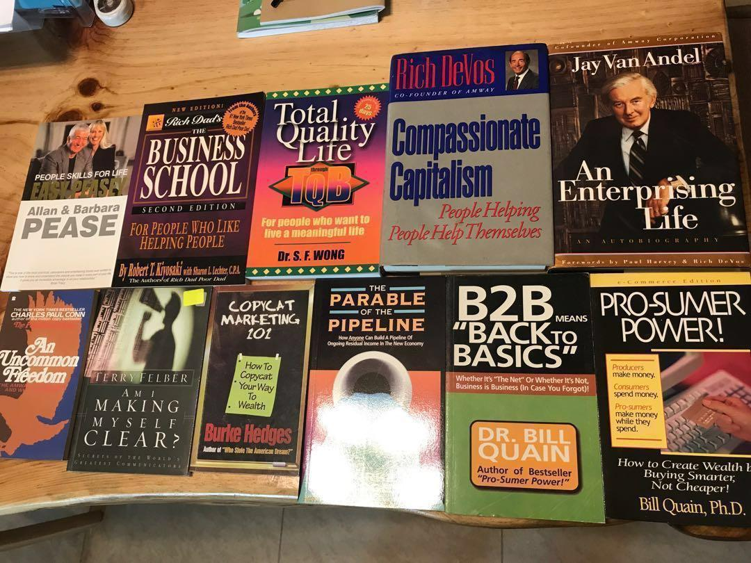 Amway MLM network marketing related books