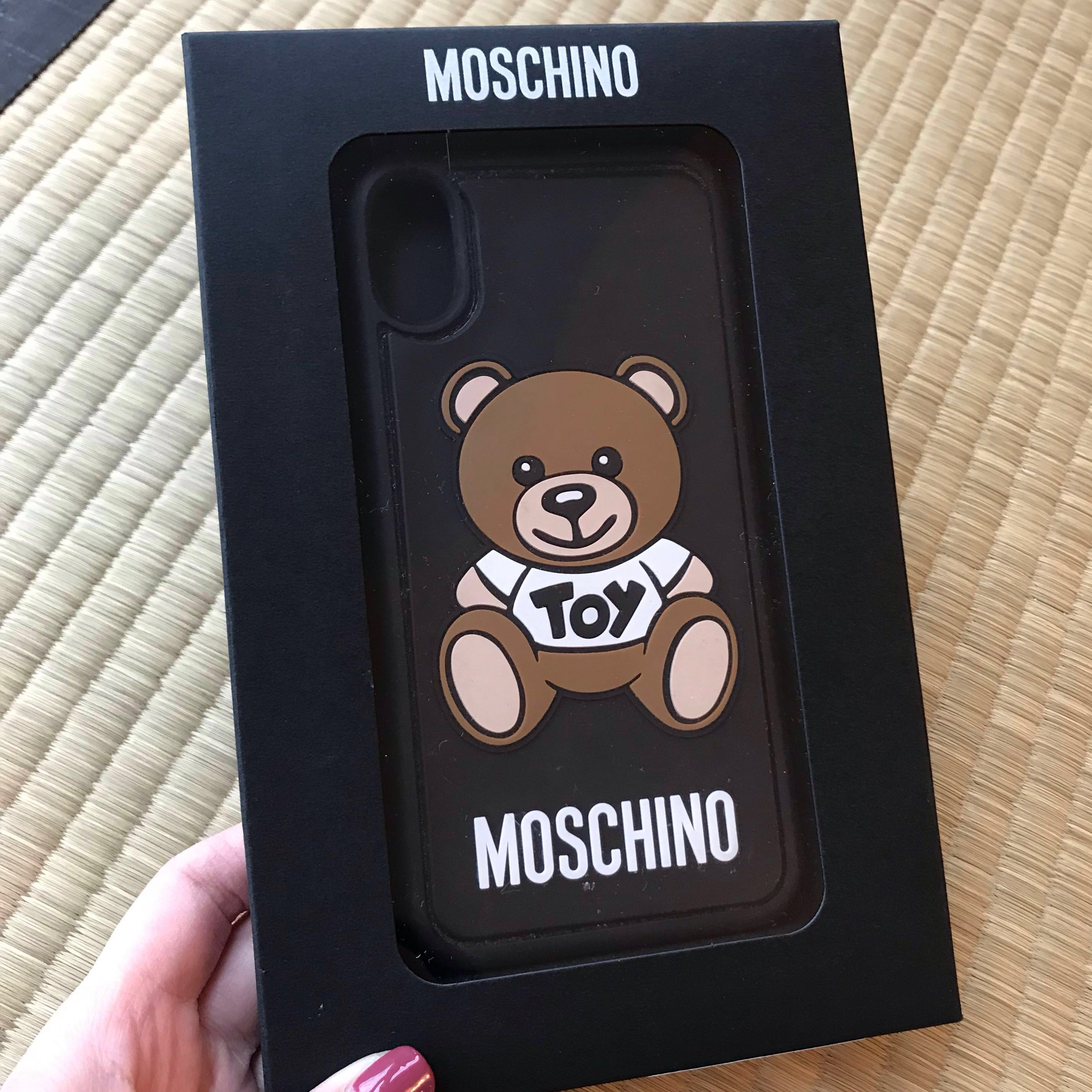 purchase cheap 91a95 df101 Authentic Moschino Iphone X Toy Bear Case