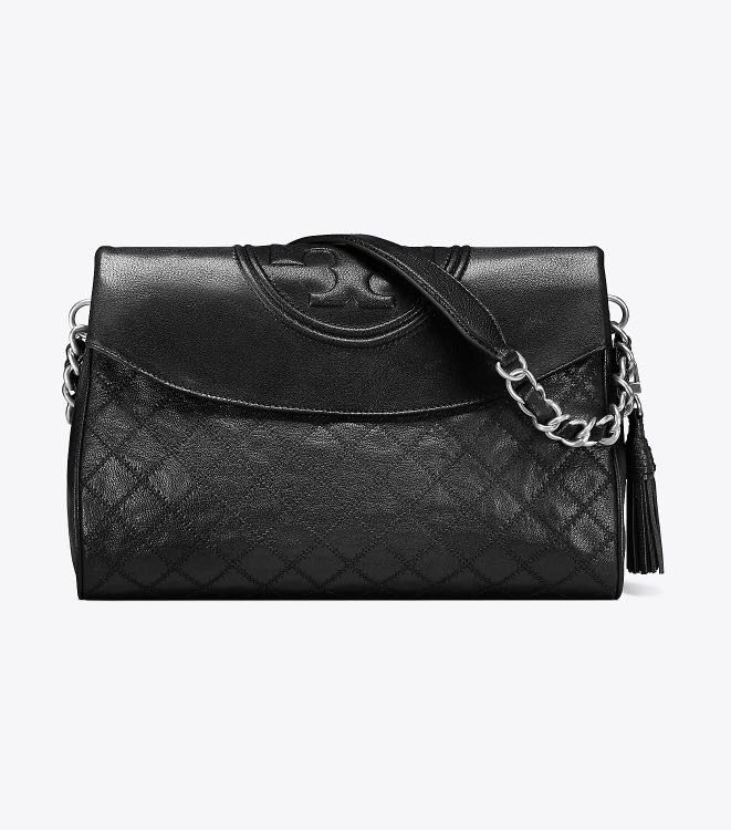 a15506f1f83 Authentic Tory Burch 48722 Fleming Distressed Leather Fold-Over Hobo ...