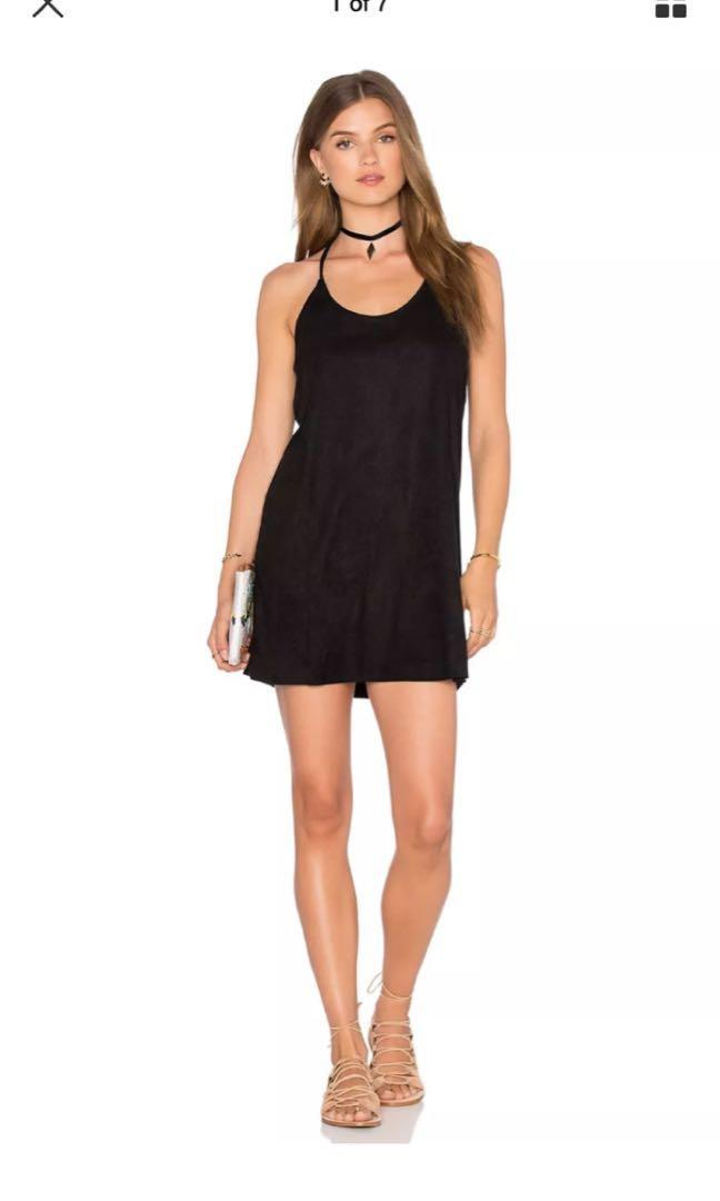 Bishop & Young Bella Suede Mini Dress - Cocktail Party Dress Anthropologie